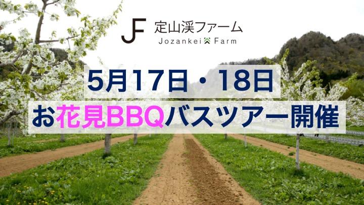 5月17日(金)、18日(土) 定山渓お花見BBQと山菜取り体験ツアー