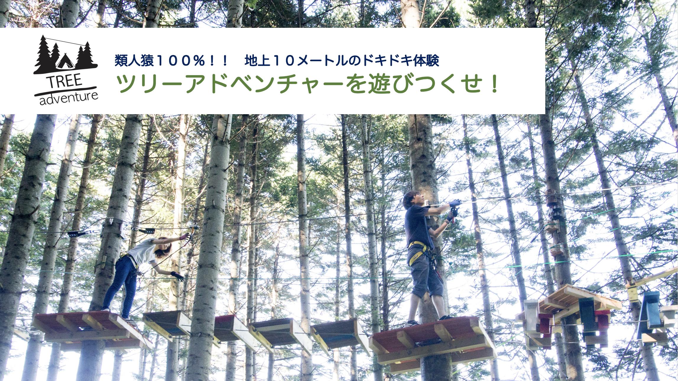 【北海道面積最大級】木の上のアスレッチック「ツリーアドベンチャー」を制覇しろ!